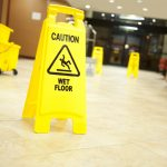 wet floor warning sign to avoid accident