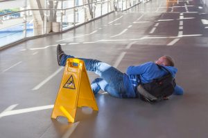man slip and fall on the floor