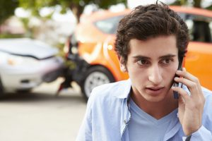 teen got into car accident